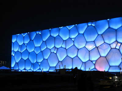 Study Abroad in Beijing - National Aquatics Center in Beijing, nicknamed the Water Cube