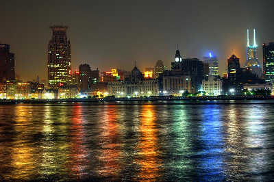 Study Abroad in Shanghai - View of the Bund at Night